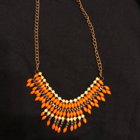 BaubleBar Jewelry - BaubleBar Orange & Peach Statement Necklace